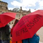 Eindrücke beim Protest gegen das Prostituiertenschutzgesetz